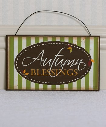 'Autumn Blessings' 12'' Wall Sign