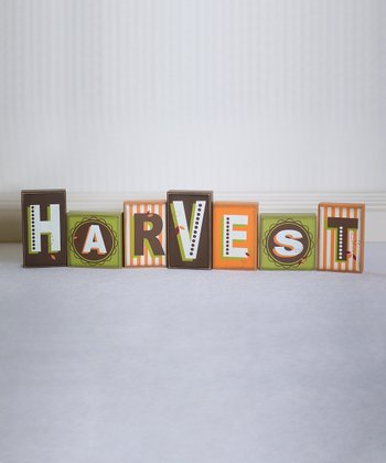 'Harvest' Decorative Block Set