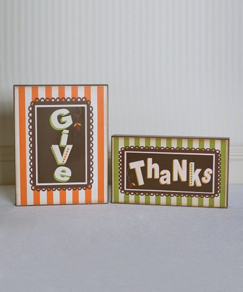 'Give Thanks' Large Decorative Block Set