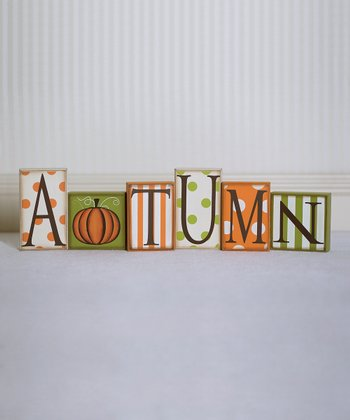 'Autumn' Decorative Block Set