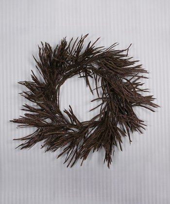 Brown Grass Glitter Wreath