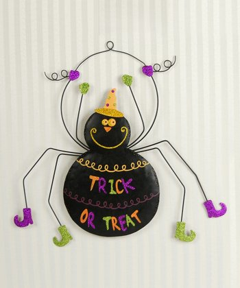 'Trick or Treat' Spider Wall Decoration