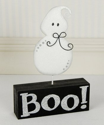 'Boo!' Ghost Decorative Block