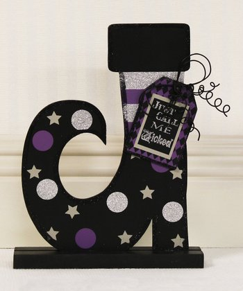 'Just Call Me Wicked' Witch Boot Decoration