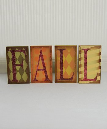 'Fall' Decorative Block Set