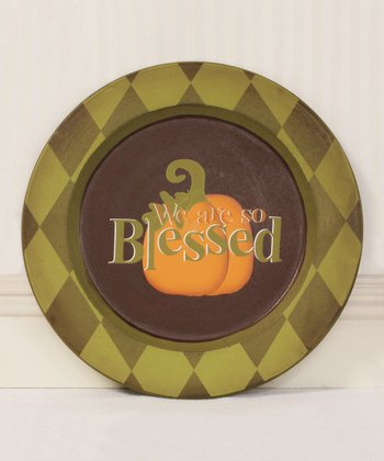 'We Are So Blessed' Decorative Plate