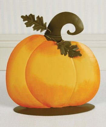 Pumpkin 11'' Decoration & Stand