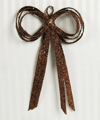 Brown Glitter 8'' Bow - Set of Six