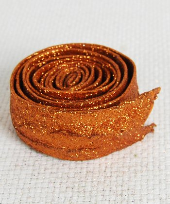 Orange Glitter Ribbon - Set of Six