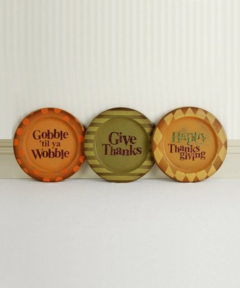 Thanksgiving Decorative Plate Set