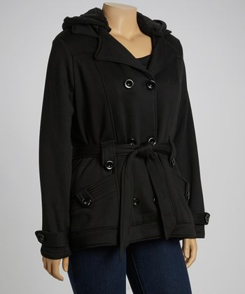 Black Fleece Trenchcoat - Plus