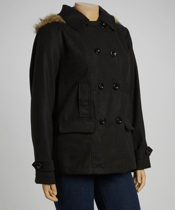 Black Fleece Peacoat - Plus