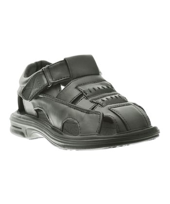 Black Stitched Sandal