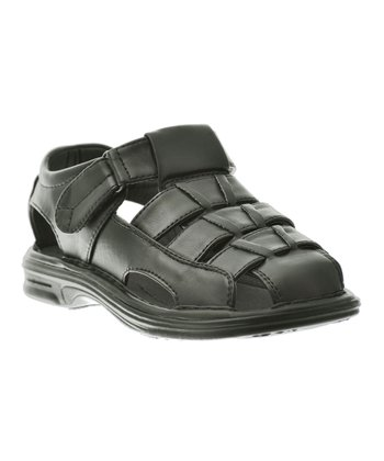 Black Four-Strap Sandal