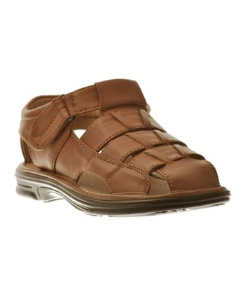 Brown Four-Strap Sandal