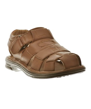 Brown Four-Strap Buckle Sandal