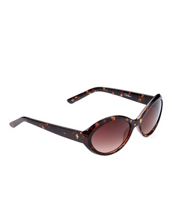 Tortoise Oval Sunglasses