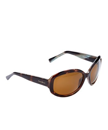 Tortoise Oval Polarized Sunglasses