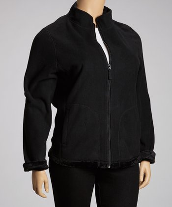Black Fleece Jacket - Plus
