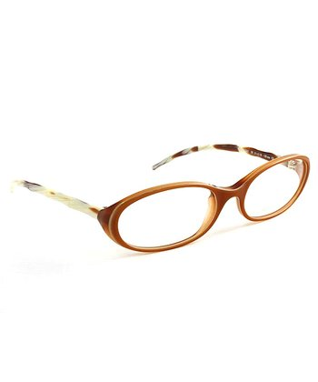 Light Brown Horn Eyeglasses