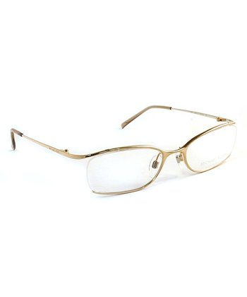 Gold Open-Frame Eyeglasses