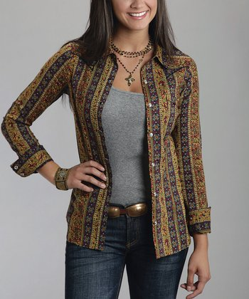Gold Persian Button-Up - Women