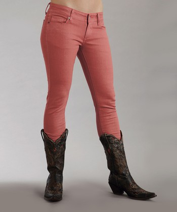 Coral Stretch Pixie-Fit Jeans - Women
