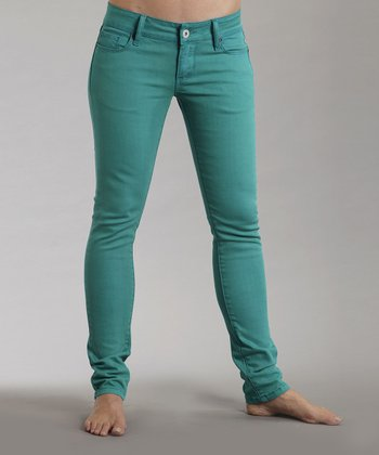 Teal Stretch Pixie-Fit Jeans - Women
