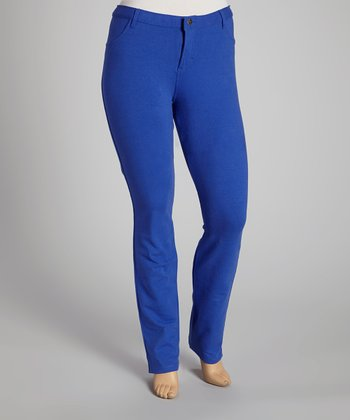 Royal Blue Jeggings - Plus