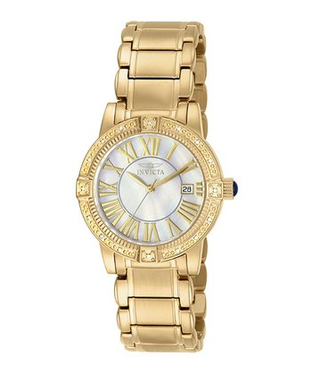 Gold Jewel Angel Quartz Watch - Women