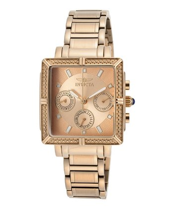 Rose Gold & Stainless Steel 14872 Wildflower Watch - Women
