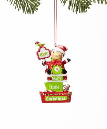 'Merry Little Christmas' Elf Ornament