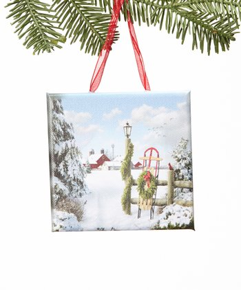 Flying Home Canvas Ornament