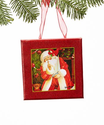 Quiet Santa Canvas Ornament