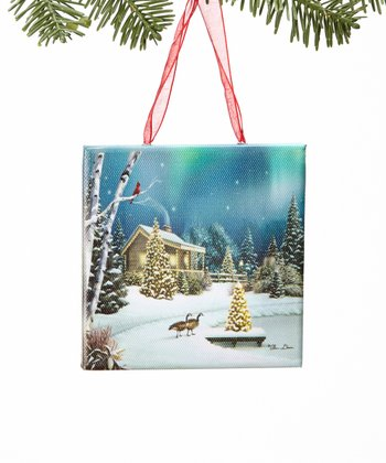 Christmas Memories Canvas Ornament