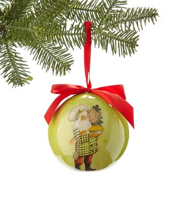 Baker Santa Ball Ornament