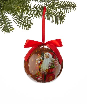 Candy Santa Ball Ornament