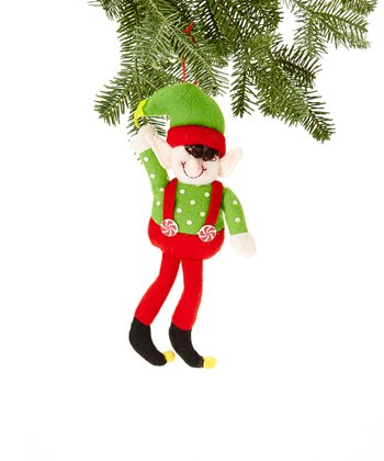 Green Hat Elf Ornament