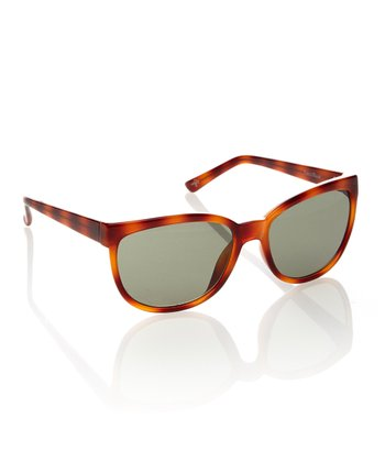 Honey Tortoise & Gray Square Sunglasses