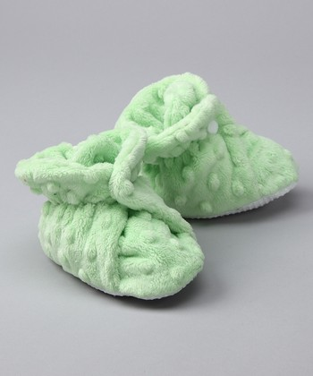 Lime Minky Booties