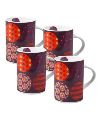 Brown Celine Mug - Set of Four