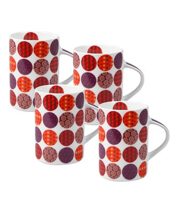 White Celine Mug - Set of Four
