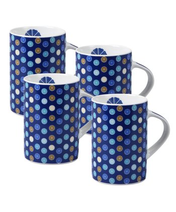 Blue Moreso Mug - Set of Four