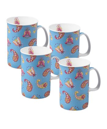 Blue Verity Mug - Set of Four