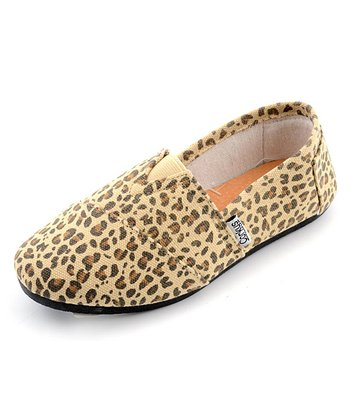 Tan Leopard Slip-On Shoe