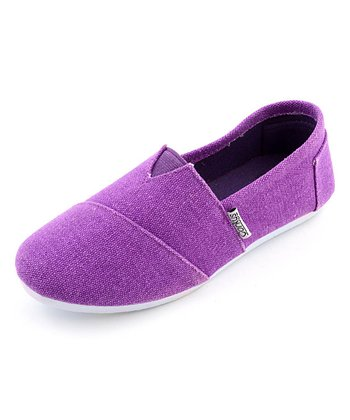 Purple Slip-On Shoe