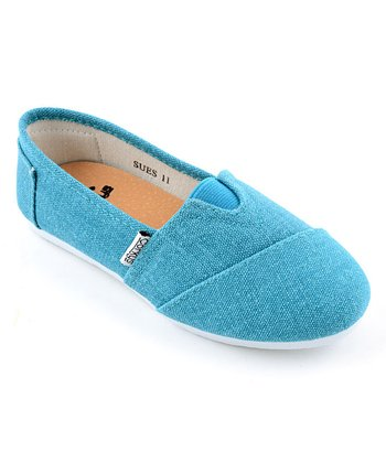 Turquoise Slip-On Shoe