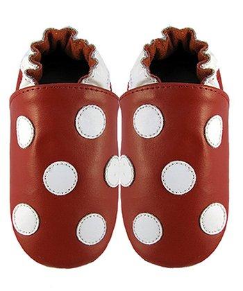 Red & White Polka Dot Booties