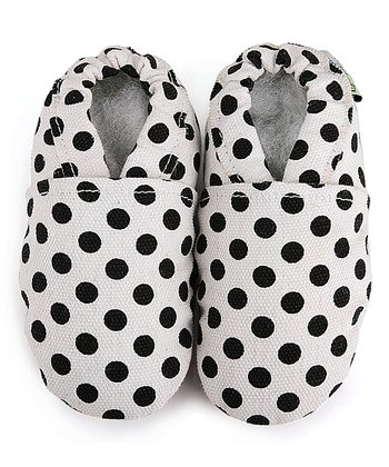 White & Black Polka Dot Booties