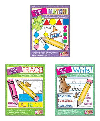 Little Kids Can Match, Trace and Write Paperback Set
